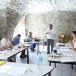 Etude  au pendule équatorial, stage à Malves